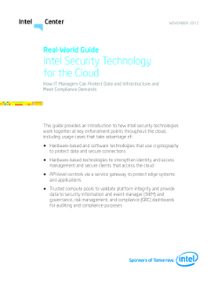 Real-World Guide: Intel Security Technology for the Cloud